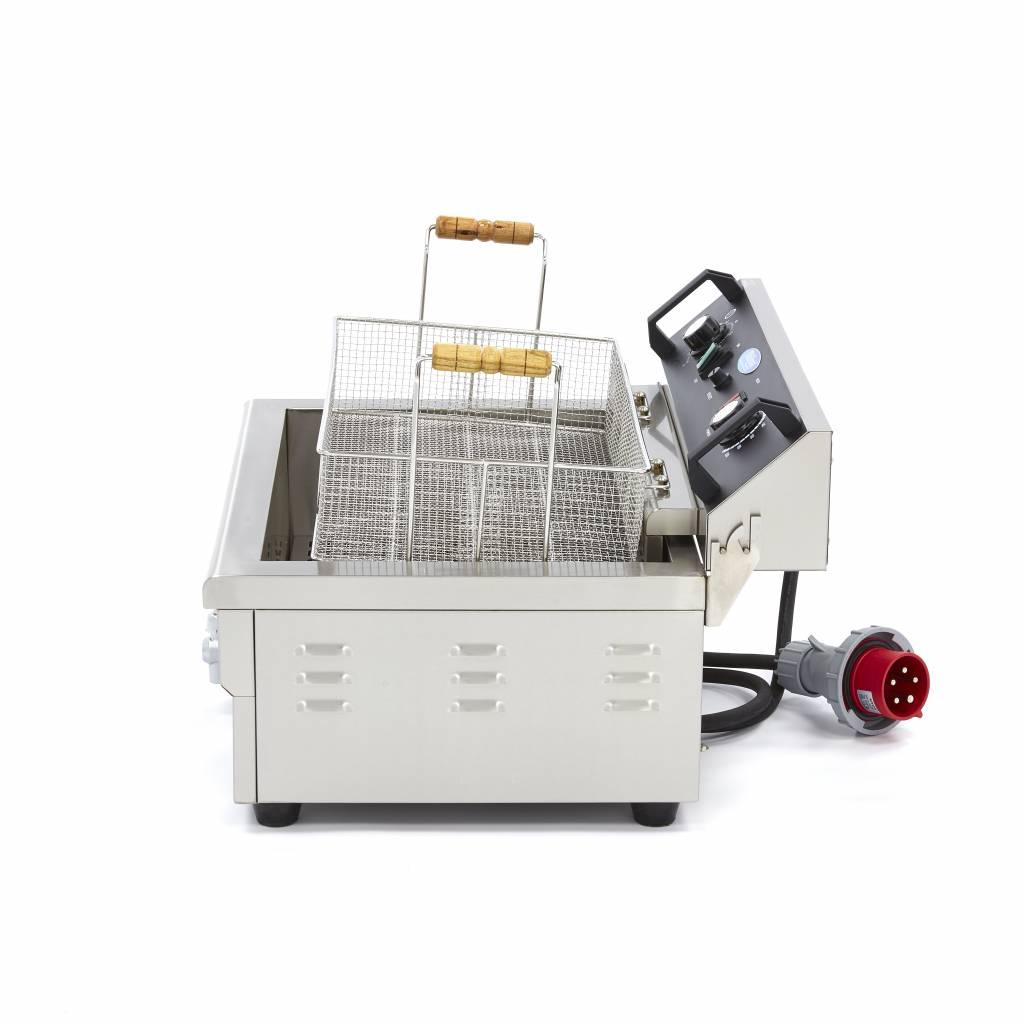 Friteuse Boulangerie Poissonerie professionnelle 1 x 20L Electrique avec Robinet