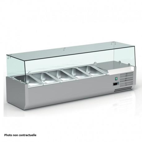 Vitrine réfrigérée positive +2/+8°C pour table à pizza - 9 bacs GN 1/3 - VRX203 - Nosem