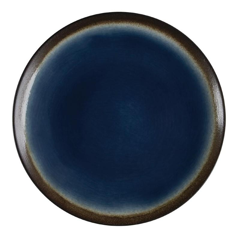 Assiettes à tapas rondes bleues 198mm Lot de 6