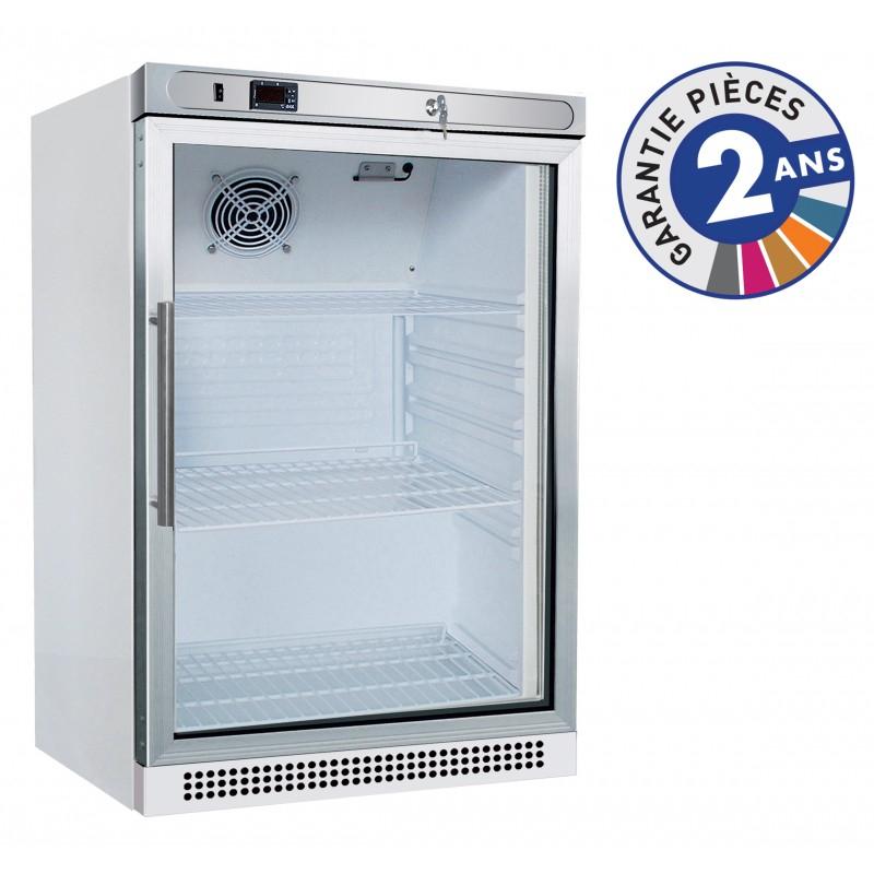 Armoire réfrigérée positive -2°C/+8°C - Laquée blanche - 1 porte vitrée - 130 L
