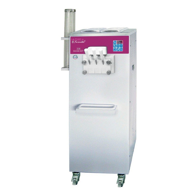 Machine à glace SOFT - SÉRIE SOFTGEL - Débits intensifs - 3 Becs - 3 Parfums - 27 litres / heure