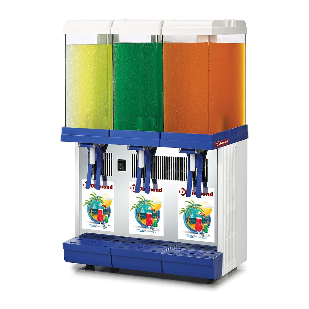 Distributeur de boissons réfrigérées - 3x 9 litres