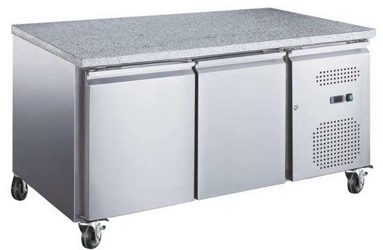 Table réfrigérée - 2 portes - Plan de travail en granit