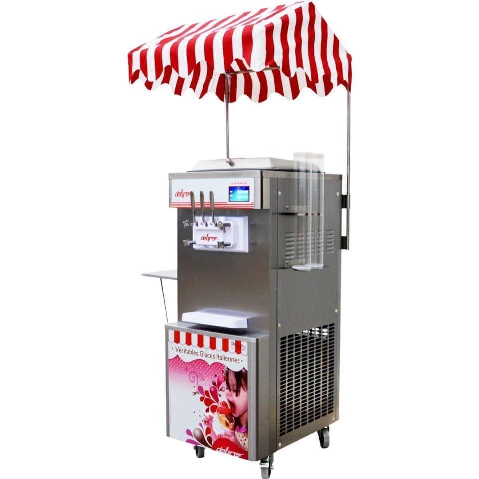 Machine à glace à l'italienne - 3 parfums - 1,6 kw