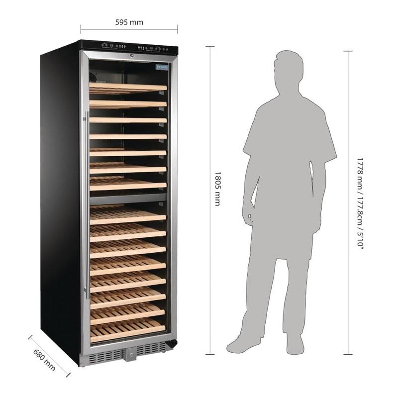 Cave à vin double zone de température 155 bouteilles