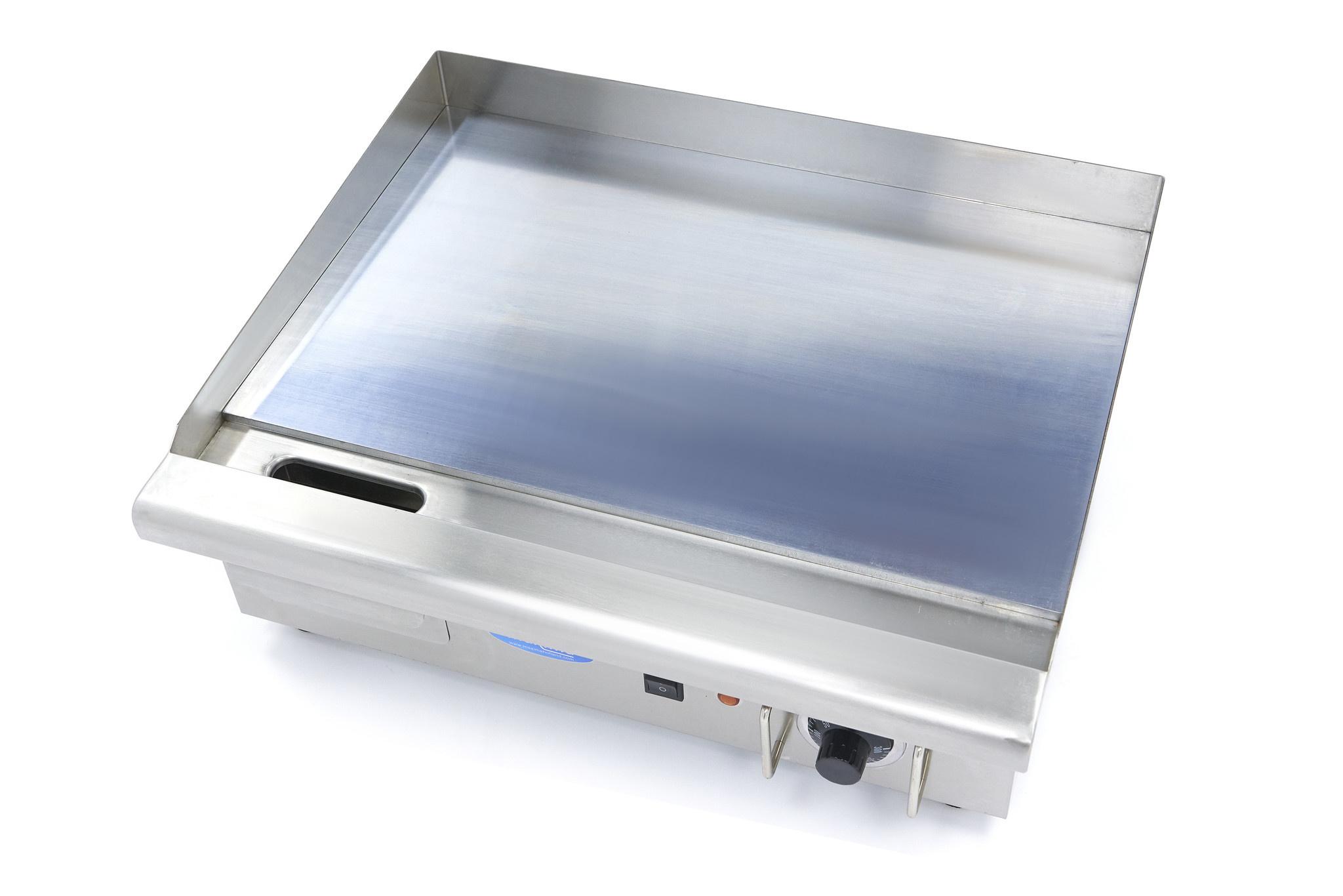 Plaque à snacker  électrique - chrome - L 73cm