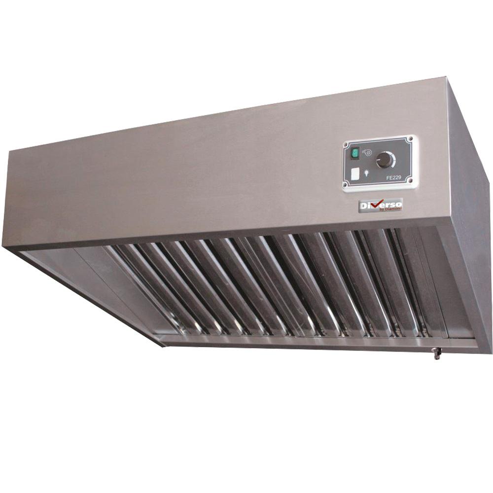 Hotte complète 3 filtres (7/7-1500 M3/h) 120 Pa, variateur,